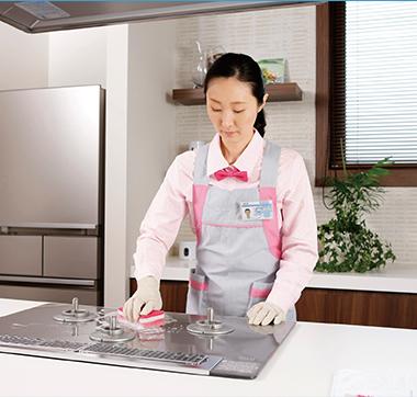 ダスキンのキッチン大掃除